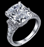Wholesale GIA Certified Cushion Cut Cts Diamond Engagement Ring K White Gold WOW