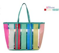 abs hit - The New Hit color jelly Beach bag Sweet candy colors Rainbow Transparent package Picture Package And retail