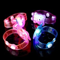Wholesale LED Light Glows In The Dark Wristbands Bracelet Party Concert Events Creative