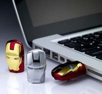 animal usb flash memory stick - 1pcs Cartoon Avengers Iron Man silver gold usb flash drive GB GB GB GB GB GB GB USB Flash Memory Stick Drive pendrive