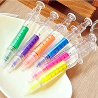 novelty pens - novelty injector highlighter pen color marker pens stationery canetas escolar material supplies papelaria