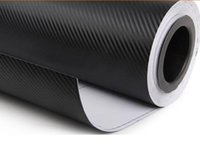 Wholesale 1 x30m Roll D black Carbon Fiber Vinyl car sticker Automotive Styling Motorcycle Vinyl Decal Personalized Waterproof M Quality m