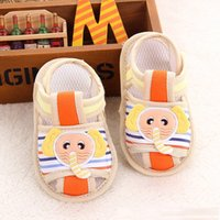 Wholesale 2016 summer sandals cartoon elephant cloth bottom fretwork baby shoes baby toddler shoes
