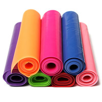 Wholesale Hot Sale Multi color m Yoga Pilates Workout Rubber Stretch Resistance Elastic Exercise Fitness Bands