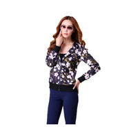 Wholesale 2016 Fashion plum blossom printed sleeved jacket Woman Hoodie