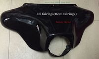 batwing fairings - Front Batwing Upper Fairing Cowl For Harley Electra Street Glide Road King FLHR for Harley FL Touring Models Black