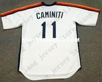 Wholesale Deluxe Edition Retro KEN CAMINITI Baseball Jersey Throwback White Mens Stitched Jerseys