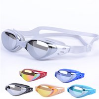 Wholesale ZhuoYan Electroplating waterproof anti fog big box uv water proof hd swimming goggles glasses authentic men and women