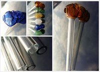 Wholesale New arrival skull glass Oil burners straight glass pipe quot inch long glass tube for new smoking
