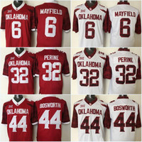 bakers s - 6 Baker Mayfield Adrian Peterson Samaje Perine Oklahoma Sooners College Football Jerseys New Style Stitched Jersey
