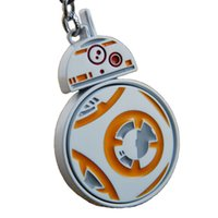 bags pack figure - Rotatable Star Wars Force Awakening BB Keychain keyring figures Toys dolls bag pendants women men Christmas gift Retail pack