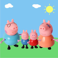 Wholesale 4pcs set plastic pig toys PVC Action Figures Family Member pig Toy Juguetes Baby Kid Christmas Birthday Gift brinquedo