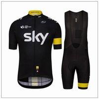 Cheap 2016 Cheap Tour De France Sky Team Cycling Jerseys Quick Dry Bike Wear cycling jersey Short sleeve cycling tights + bib pants cycling