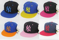 Wholesale Adjustable Snapbacks Hats Snapback NY Baseball Caps Adjustable Flat Hat Hip hop Dance Lovers Women and Men Baseball Cap