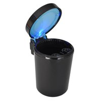 Wholesale Price Portable Car Auto LED Light Smokeless Ashtray Cigarette Holder Case Good Gift UK