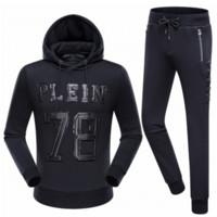 belted suit jacket - Philipp Plein Brand Outdoor Tracksuit Men Jackets Men Hoodies Sweatshirts Sports Suits Tracksuits Sportswear Man Jogger Sets Male PP Boys