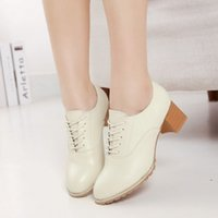 b colleges - England College Wind retro shoes high heeled shoes white lace oxford shoes women
