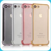 Wholesale TPU Case For iPhone Plus Plating Cases Ultra Thin Soft Silicone Electroplate Case Cover for iphone plus