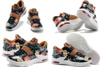kevin durant - With Box Kevin Durant KD VII New Classic Floral Flower Version Men Basketball Sport Outdoors Shoes Size