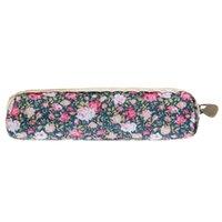 Wholesale Retro Flower Floral Lace Pencil Case pencil bag school supplies Makeup Bag Zipper Pouch