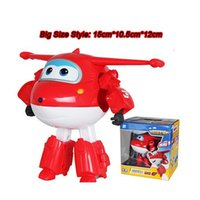 toy airplane - Big cm ABS Super Wings Deformation Airplane Robot Action Figures Super Wing Transformation toys for children gift Brinquedos