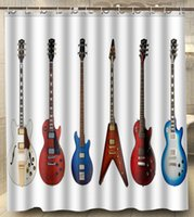 bath guitar - Many Electric guitar Bass guitar Polyester Big Size x180cm Square Custom Shower Curtain Bath Curtain
