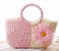 straw beach bag - 2016 New arrive beach bag women handbags Bohemian women straw bag summer style handbag women s travel bags tote