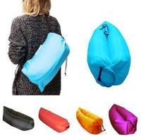 Wholesale Fast Inflatable Lazy Sleeping Sofa Bed Festival Camping Hiking Travel Hangout Beach Bag Bed DHL Free OTH238