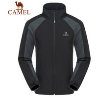 Wholesale CAMEL Brand Men Soft Shell Hiking Camping Fleece Outerwear Windproof Clothing Breathable Jackets Colors Size S XXXL