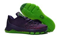 Wholesale Cheap Kd V Shoes - Cheap KD8 Suit Purple Green Basketball Shoes 2016 New KD 8 V8 V-8 KDs Sneakers Men For Sale USA Size7~12