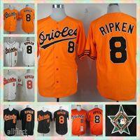 Wholesale Cheap Men s Cal Ripken anniversary patch Retro Atlanta Braves Baseball Jerseys MLB Stitched Jersey
