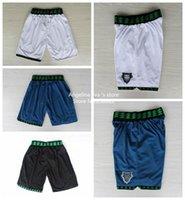 Wholesale Minnesota Throwback Basketball Shorts Minnesota Kevin Garnett White Blue Black Throwback Basketball Shorts S XXL