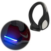 Wholesale New Bright Luminous LED Shoe bike Light Clip Warning Lamp fits Night Walking Running bike