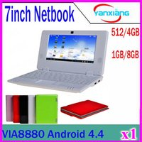 Wholesale Cheap Android Laptop Computer - CHPost 1pcs New Arrival Cheap 7inch Mini Laptop Notebook Computer Webacm Via 8880 Android Netbook Laptops ZY-BJ-1