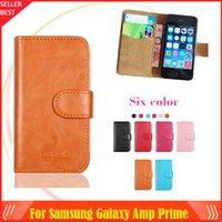 amp cases - New arrrive Colors Samsung Galaxy Amp Prime Phone Case Dedicated Leather Protective Cover Case SmartPhone with Tracking