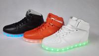 b mirror - Led shoes men USB Charging LED Shoes Unisex symbols colors Sneakers Luminous lights Glowing Sneakers shoes Forcesd shiny mirror lights