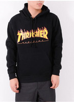 Wholesale Thrasher Hoodie Spring Skateboard Sweartshirt Pullover Men Hip Hop Cotton Loose Thrasher Sweatshirts Male Brand Clothing