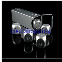 Wholesale Aluminium alloy Drinking Dice rpg Entertainment Toy Gambling Dice drinking game dice set boardgame golden color