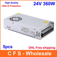 Wholesale DHL AC DC V W Universal Regulated Switching Power Supply V A LED Driver High Quality