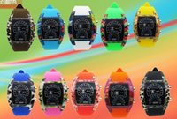 airs fashion watches - Mix Colors Watches Fashion Cool Flash LED Digital Watch Air Race Sports Silicone Led Electronic Binary Watch RW022