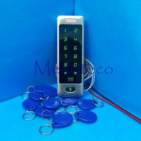 Wholesale large user capacity Metal Proximity RFID Door Controller Waterproof Access Control Reader MC40 EM Reader with touch keypad