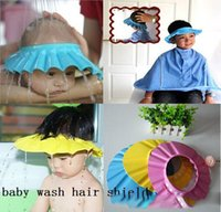 Wholesale Kids Baby Shampoo Bath Shower Cap Adjustable Baby Shower Hat Wash Hair Shield pces