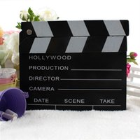 Wholesale 10pcs Portable Hollywood Directors Film Movie Clapper Board x cm Date Scene Video Record Clapperboard Photography Cut Props