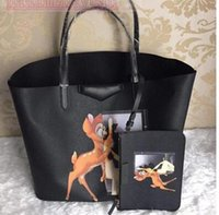 animal cells pictures - Kobold handbag leather shoulder bag deer picture package printing Ms European and American fashion shopping bag