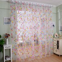 best deals seller - Super Deal Best seller Window Room Curtain Print Floral Printed Tulle Voile Door Window Curtain home decor