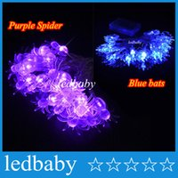 aa window - 2 m leds Spider Bat Shape Stylish led string fairy lights festival party garden tree window decoration AA Battery Powered