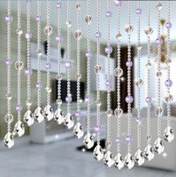 Wholesale Wedding Party Home Decorations Arylic Crystal Beads Rope Decor Curtain Hanging Screen on wall Door inside Meter Beads