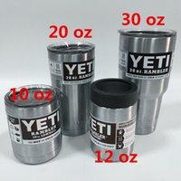 Wholesale YETI Cups Yeti Rambler Tumbler Stainless Steel oz Bilayer Vacuum Insulated Stainless Steel ml Mug cup