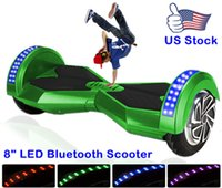 8 - Stock In US quot Bluetooth Hoverboard Smart Balance Scooter Electric Scooter Inch Electric Drifting Board With key LED Light Multicolor