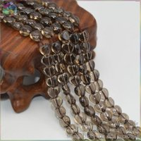 almond filling - Grade A Quality Natural Smoky Quartz Puffed Almond Heart Beads with Horizontal Hole x5 x7mm